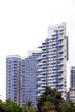 Израиль, Тель-Авив, пасмурный день, многоэтажные здания 3 стоковое фото