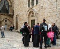 Израиль Туристы в Иерусалиме Стоковая Фотография RF
