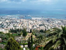Израиль Natanya взгляд города панорамный Стоковые Изображения