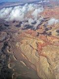 Изрезанная топография--Юговосточная Невада стоковые изображения rf