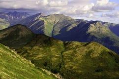 Изрезанное взгляд сверху горы Стоковые Изображения RF