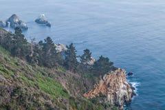 Изрезанное побережье Калифорнии большое Sur Стоковые Изображения RF