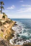 Изрезанное побережье Blanca Косты Стоковое Изображение RF