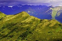 Изрезанные горы Стоковая Фотография