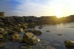 Изрезанный берег моря Стоковое Изображение RF