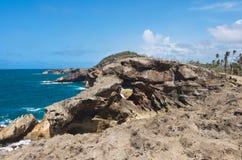 Изрезанный бечевник Punta Las Tunas стоковое изображение