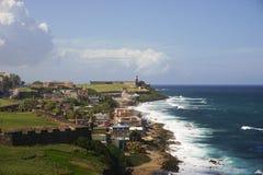 Изрезанный взгляд в Сан-Хуане Стоковые Фотографии RF