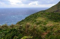 Изрезанный ландшафт северозападного побережья острова орхидеи Lanyu стоковые изображения rf