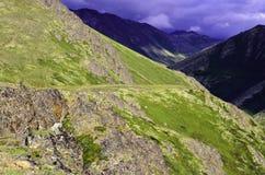Изрезанный путь горы Стоковое Изображение RF