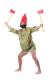 Изуверский изолированный человек Стоковая Фотография