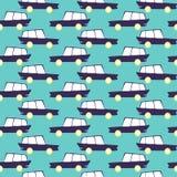 Изумительная безшовная винтажная картина автомобиля автомобили делают по образцу безшовный вектор картина детей предпосылки младе иллюстрация вектора
