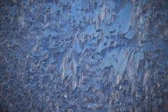 Изумительная картина зимы на окнах Стоковая Фотография