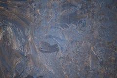 Изумительная картина зимы на окнах Стоковые Фотографии RF