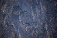 Изумительная картина зимы на окнах Стоковые Фото