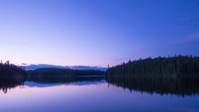 Изумительная сцена в глуши Portneuf, Квебек захода солнца, Канада стоковые изображения