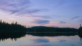 Изумительная сцена в глуши Portneuf, Квебек захода солнца, Канада стоковое фото rf