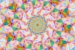 Изумительная kaleidoscopic предпосылка Стоковые Изображения RF
