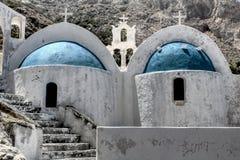 Изумительное малое Chrch на острове Santorini Стоковое фото RF