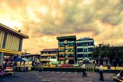 Изумительное небо в эквадоре стоковое фото