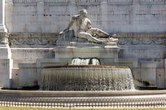 Изумительный взгляд алтара della Patria Altare отечества, известного как национальный монумент к Victo Стоковое Фото