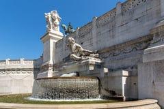 Изумительный взгляд алтара della Patria Altare отечества, известного как национальный монумент к Victo Стоковые Фото