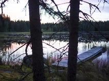 Изумительный взгляд захода солнца - Lusi, Финляндия стоковое фото rf