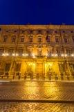 Изумительный взгляд ночи Palazzo Giustiniani в городе Рима, Италии Стоковое Изображение