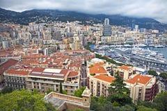 Изумительный взгляд портового района в Монте-Карло Стоковое фото RF