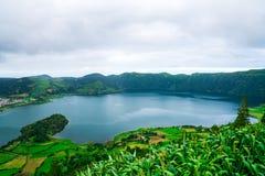 Изумительный взгляд природы на Азорских островах Стоковое Изображение RF