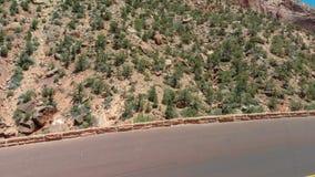 Изумительный вид с воздуха национального парка Сиона, Юты - Соединенных Штатов стоковые фото