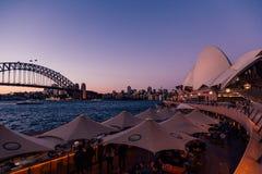 Изумительный вид с воздуха оперного театра Сиднея Стоковое Изображение RF