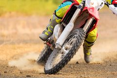 Изумительный всадник Motocross стоковая фотография