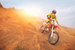 Изумительный всадник Motocross стоковые изображения