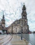 Изумительный город Дрездена в Германии Европейский исторический цент стоковое фото rf