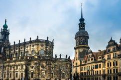 Изумительный город Дрездена в Германии стоковое изображение