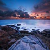 изумительный заход солнца Стоковые Фото