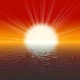 изумительный золотистый заход солнца Стоковые Фото