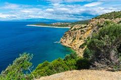 Изумительный ландшафт на море стоковые изображения