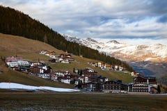 Изумительный пейзаж горы от Hintertux, Австрии Стоковая Фотография RF