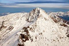 Изумительный пейзаж горы от Hintertux, Австрии Стоковое фото RF