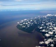 Изумительный плавая остров стоковые изображения rf