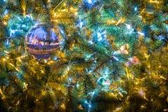Изумительный художник ` Artista ` Luci d ` освещает в Salerno во время времени рождества, кампании, Италии Стоковое Изображение RF