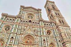 изумительн del базилики детализировало наземный ориентир maria florence fiore di экстерьера известный большинств ноча santa стоковое фото rf
