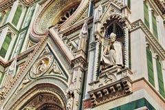 изумительн del базилики детализировало наземный ориентир maria florence fiore di экстерьера известный большинств ноча santa стоковое фото