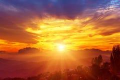 изумительная гора ландшафта Стоковые Изображения