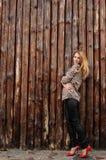 Изумительная девушка с веснушками Стоковая Фотография