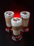 Изумительная кофейная чашка на красной предпосылке Стоковое Изображение RF