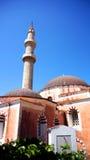 Изумительная мечеть в старом городке Родоса стоковые изображения rf