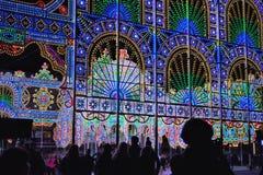 Изумительная огромная свет-скульптура Стоковое Фото