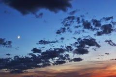 Изумительная предпосылка природы с небом вечера Стоковая Фотография RF